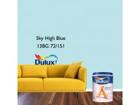 LittleThingy 13BG 72/151 Sky High Blue 5L Dulux Ambiance Pearl Glo Interior Wall & Ceiling Mid Sheen Finish Indoor Mix Paint Cat Dinding Kilat