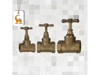 City Brass Stop Cock 1/2 Inch, 3/4 Inch and 1 inch Available Home Kitchen Bathroom Office Restaurant LittleThingy