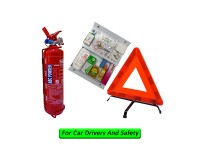 Grab Car 1Kg Fire Extinguisher Year 2020 Production SRI Sirim Puspakom Ready, First Aid Kit And Triangle Warning Road Sign For Grab Car Drivers Pemadam Api Set Untuk Kereta Grab LittleThingy