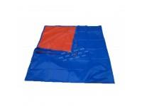 8ft x 10ft Canvas Blue Orange Waterproof PE Tarpaulin Sheet Cover for Vehicle Shield Kanvas Kanopi Khemah Kolam Ikan Pasar Malam Bazaar Ramadhon Lapik Meja