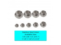 3/8 Inch / 9mm SS Union Stainless Steel Fittings 3/8""