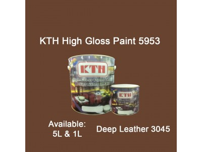 KTH 5L Deep Leather 3045 High Gloss Paint Indoor & Outdoor For Wood And Metal Surface Cat Kilat untuk Besi Dan Kayu LittleThingy