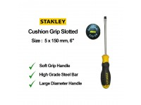 Stanley 5 x 150mm 6 Inches Cushion Grip Screwdriver Slotted Flat Screw Driver Flat 65-188 STMT60823 LittleThingy