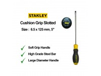 Stanley 6.5 x 125mm 5 Inches Cushion Grip Screwdriver Slotted Flat Screw Driver Flat 65-192 STMT60827 LittleThingy