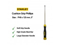 Stanley PH0 x 125mm 5 Inches Cushion Grip Screwdriver Phillips Screw Driver 65-159 STMT60802 LittleThingy