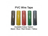 PVC Wire Tape (Black/Red/Green/Yellow/Blue) 1 Roll 0.12mm x 18mm x 5 Meters Electrical Insulating Adhesive Tape LittleThingy