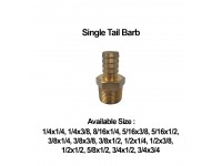 LittleThingy Brass Hose Connector Single Tail Barb With Various Sizes
