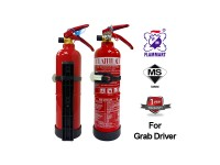 Bomba Cert 1kg Fire Extinguisher Year 2020 Production Flammart Sirim And Puspakom Inspection Ready For Vehicle Grab Car Driver Taxi Van ABC Dry Powder Kereta Grab LittleThingy