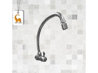 Wall Mounted Sink Water Tap Doe QT116 With Swivel Anti-Splash Aerator Outlet C/W Coral CP Brass Handle Paip Air Sinki Pasang Dinding LittleThingy