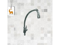 Pillar Mounted Sink Water Tap Doe QT115 250mm Spout C/W Swivel Anti-Splash Aerator Outlet C/W Coral CP Brass Handle Paip Air Sinki LittleThingy