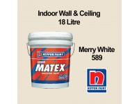 18L Nippon Super Matex Merry White 589 Indoor Wall & Ceiling Paint Cat Dinding 18 Litre LittleThingy
