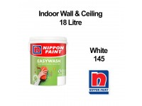 18L Nippon Easywash White 145 Indoor Wall Ceiling Paint Cat Dinding 18 Litre