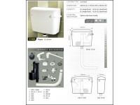 Techplas Elegen Plastic Flushing Cistern Low Level 9L (White) 1103-LL LittleThingy