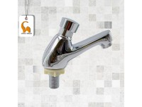 Self Closing Water Tap Delay Automatic Chrome Plated Pillar Sink Type Self-Closing Basin Tap Kitchen Bathroom Toilet Washroom LittleThingy