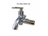 Toilet Wall Two Way Tap With Bidet Holder Chrome Plated Basin Water Tap 2 Way Bathroom Toilet Washroom LittleThingy