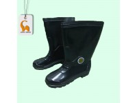Black Rubber Boot Shoes Size 6-10 Safety Boots For Kitchen Wet Floor Garden Kasut Getah Hitam Pua Chu Kang LittleThingy