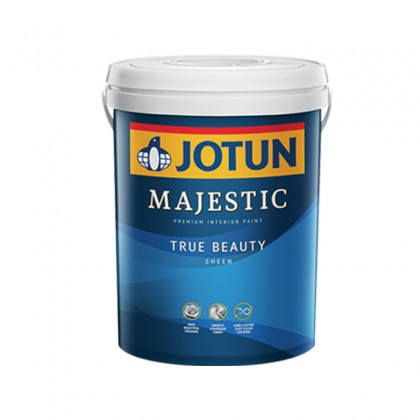 1L Jotun White Colour 0001 Majestic True Beauty Sheen Interior Wall Paint Indoor Cat Dinding Dalam Rumah Warna Putih