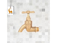 3/4 Inch City Brass Bib Water Tap Faucet City Home Kitchen Bathroom Office Restaurant LittleThingy