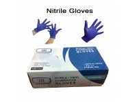 100 Pcs Nitrile Examination Gloves Powder Free For Food Preparation, Dental, Cleaning, Industrial Use Sarung Tangan Nitril LittleThingy