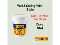Jotun 18L Dove 1024 Jotaplast Max Interior Emulsion Wall Paint Ceiling Paint Cat Dinding Rumah LittleThingy