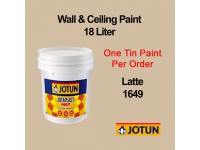 Jotun 18L Latte 1649 Light Brown Jotaplast Max Interior Emulsion Wall Paint Ceiling Paint Cat Dinding Rumah Warna Coklat Terang LittleThingy