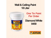 Jotun 18L Diamond White 450 Jotaplast Max Interior Emulsion Wall Paint Ceiling Paint Cat Dinding Rumah LittleThingy