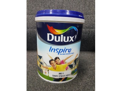 5L Dulux Inspire Exterior Paint White Colour Matt Finish Cat Putih Outdoor LittleThingy