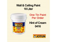 Jotun 18L Hint Of Cream 416 Jotaplast Max Interior Emulsion Wall Paint Ceiling Paint Cat Dinding Rumah LittleThingy