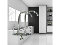 Water Tap Twin Spout Pillar Mounted or Wall Mounted Type Perfect 8201 / 8202 Sink Paip Air Sinki Dinding LittleThingy