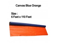 6 Feet x 100Yard Canvas Roll Waterproof PE Tarpaulin Blue Orange Sheet Cover for Vehicle Shield Kanvas Kanopi LittleThingy