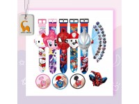 Kids Projector Watch Ultraman Spiderman Frozen Paw Patrol Avenger Hello Kitty Snow White Princess Iron Man Cartoon Watch 24 Images Projection Birthday Gift