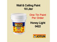 Jotun 18L Honey Light 422 Jotaplast Max Interior Emulsion Wall Paint Ceiling Paint Cat Dinding Rumah LittleThingy