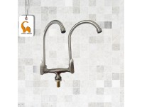 Double Water Tap Sink Pillar Type Twin Head Water Tap Satinel 8800P Twin Spout Sink Paip Air Sinki LittleThingy