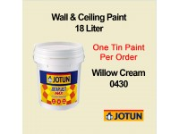 Jotun 18L Willow Cream 430 Jotaplast Max Interior Emulsion Wall Paint Ceiling Paint Cat Dinding Rumah LittleThingy