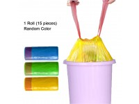 Plastic Bag 45cm x 50cm With String Rope 15 Pieces Per Roll Garbage Bag Plastik Sampah LittleThingy