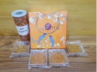 中秋月饼礼品 4pcs Mooncake Gift With Lots Soba Tea For Mid-Autumn Mooncake Festival With Friends Colleague Family