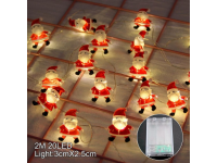 2M LED String Santa Clause Snowman Rain Deer Elk Love Heart Shape Home Christmas Tree Light Decorations