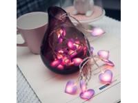 Love Heart Shape 2.3M 16pcs LED Light Wedding Engagement String Fairy Christmas Lights Decorations LittleThingy