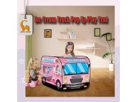Kids Pop Up Tent School Bus Police Ice Cream Truck Fire Truck Indoor Outdoor Playground Khemah Kanak-Kanak