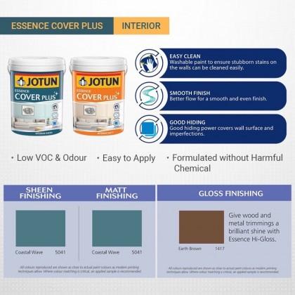 1133 Mito 5L Jotun Essence Cover Plus Matt Brown Colour Interior Wall Paint Easy Wash Cat Dinding Dalaman Senang Dicuci
