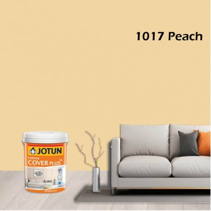 1017 Peach 5L Jotun Essence Cover Plus Matt Brown Colour Interior Wall Paint Easy Wash Cat Dinding Dalaman Senang Dicuci