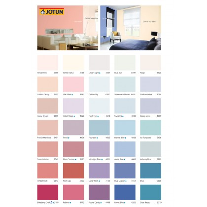 2031 Coral 5L Jotun Essence Cover Plus Matt Pink Colour Interior Wall Paint Easy Wash Cat Dinding Dalaman Senang Dicuci