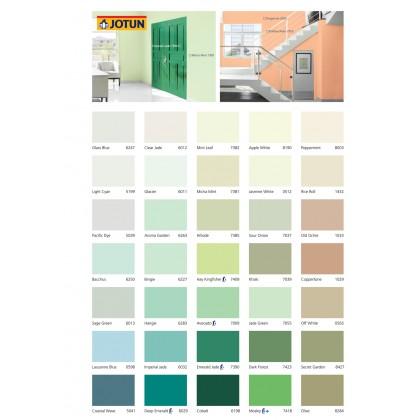 7390 Emerald Jade 5L Jotun Essence Cover Plus Matt Green Colour Interior Wall Paint Easy Wash Cat Dinding Dalaman Senang Dicuci