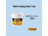 Jotun 7L Breezy Blue 868 Jotaplast Max Interior Emulsion Wall Paint Ceiling Paint Cat Dinding Rumah Warna Biru LittleThingy