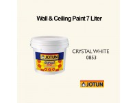 Jotun 7L Crystal White 853 Jotaplast Max Interior Emulsion Wall Paint Ceiling Paint Cat Dinding Rumah LittleThingy