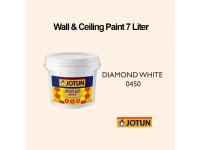 Jotun 7L Diamond White 450 Jotaplast Max Interior Emulsion Wall Paint Ceiling Paint Cat Dinding Rumah LittleThingy