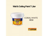 Jotun 7L Coral White 858 Jotaplast Max Interior Emulsion Wall Paint Ceiling Paint Cat Dinding Rumah LittleThingy