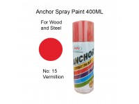 # 15 Vermillion Colour 400ml For Wood Metal and Concrete Anchor Brand Aerosol Spray Paint LittleThingy