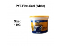 1Kg PYE Flexi-Seal (White) Flexible Waterproof Sealer For Concrete & Cement Surface Water Proofing Solution (Solution For Wall Small Crack) Tampal Simen LittleThingy