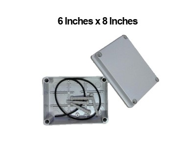 6 Inches x 8 Inches (150mm x 215mm x 110mm) Waterproof PVC Electric / Weatherproof Electronic Project Enclosure Junction Box / Case LittleThingy